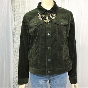 Talbots Classic Novelty Jacket - Corduroy Womens L
